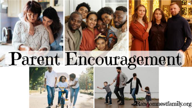 five sets of parents, parent encouragement on randomnestfamily.org