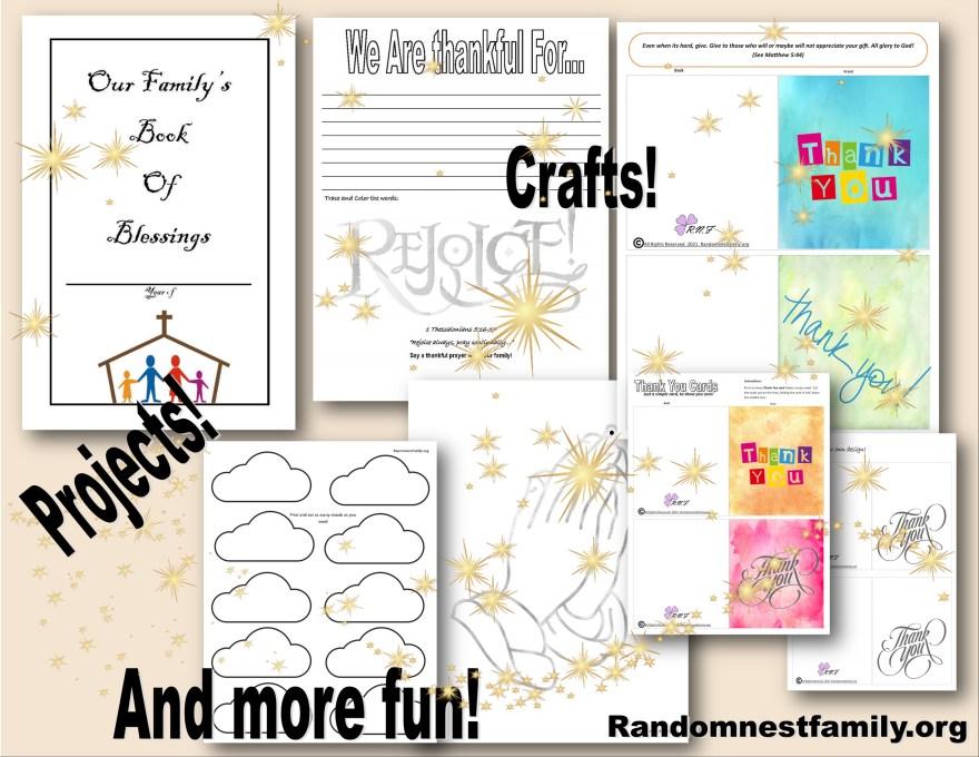 Thankfulness mini Bible Study @randomnestfamily