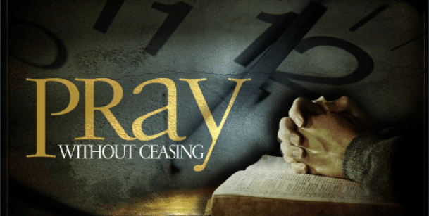 pray-without-ceasing, open Bible at Randomnestfamily.org