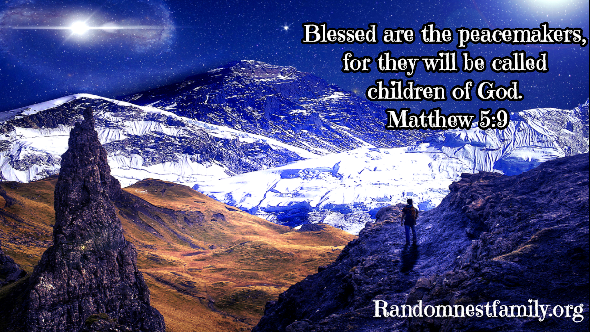 Blessed are the peacemakers image @randomnestfamily