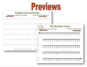 My number line practice printable