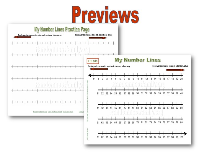My number lines chart preview @randomnestfamily