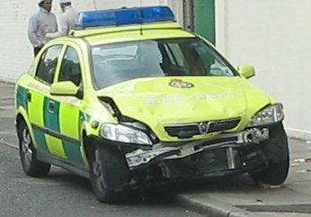 Another fine example of LAS driving, a damaged response car