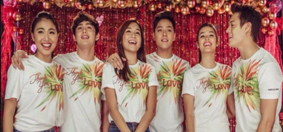 WATCH: KathNiel, LizQuen, and JaDine Join Forces in Recording ABS ...