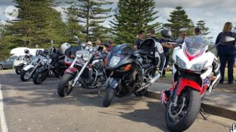 Kiama Lighthouse - Brigade of bikes