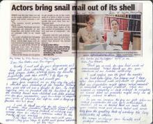 Newspaper article on Writing Workshop