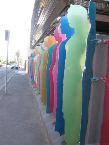 colourful line up
