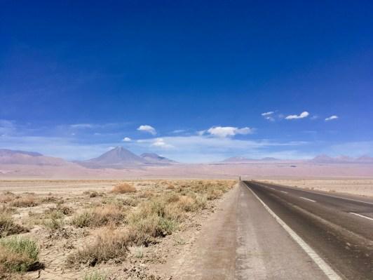 Looking back up at Volcan Licancabur and Cerro Juriques