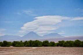 Beautiful lenticular clouds forming...