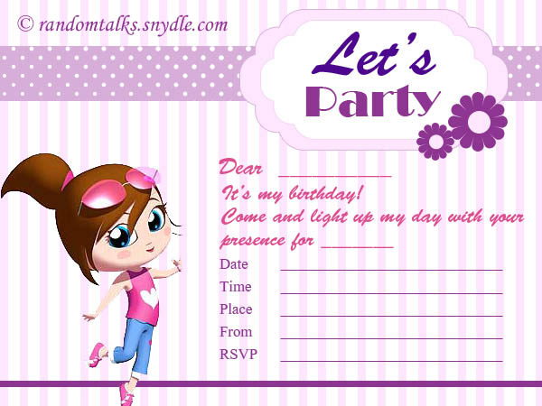 Print Card Invitations