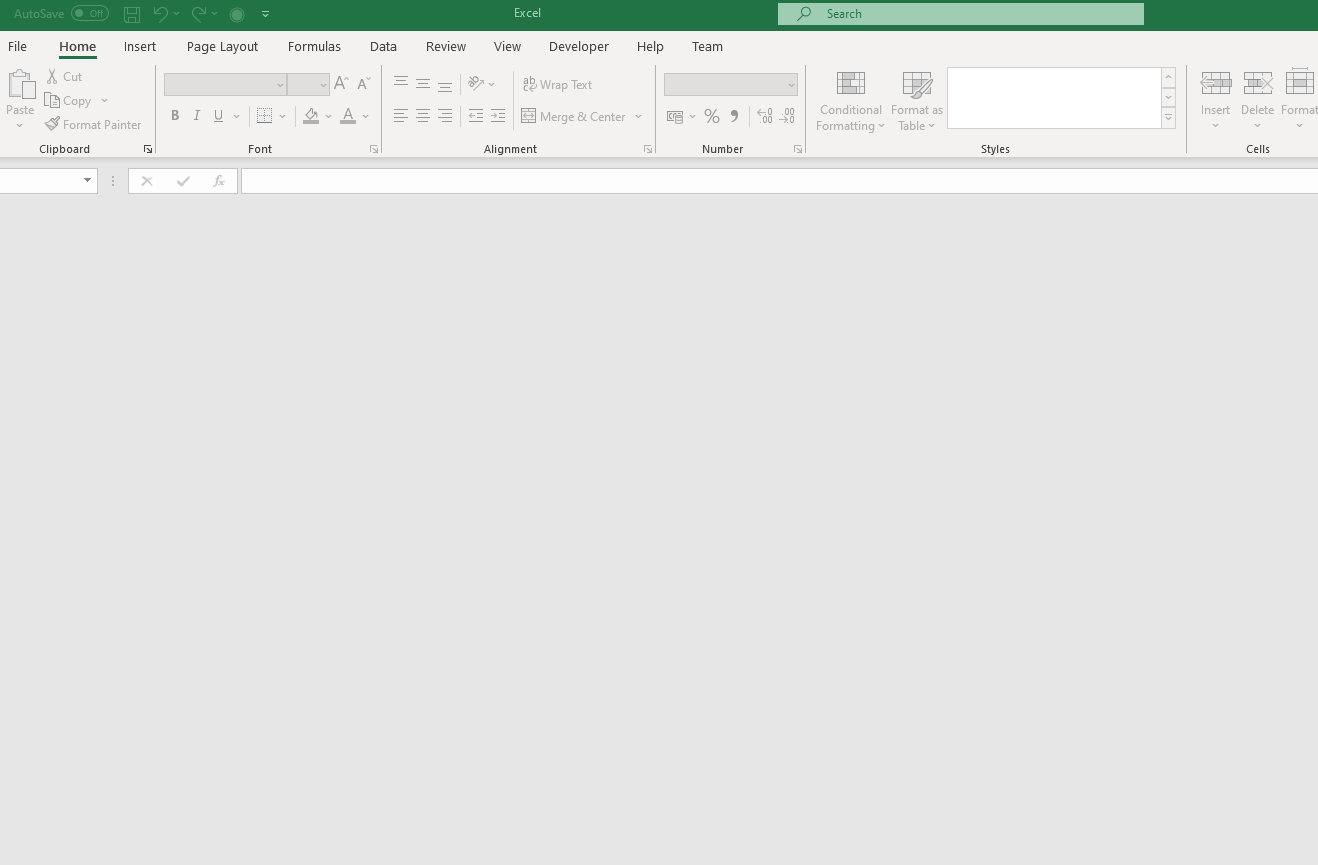 Excel Opening To Blank Screen