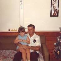 My favorite picture of my Dad and me. Aunt Irene's house, Oakland Park.