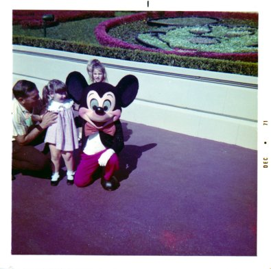 Our family's first visit to Disney World. That's Dad and me.
