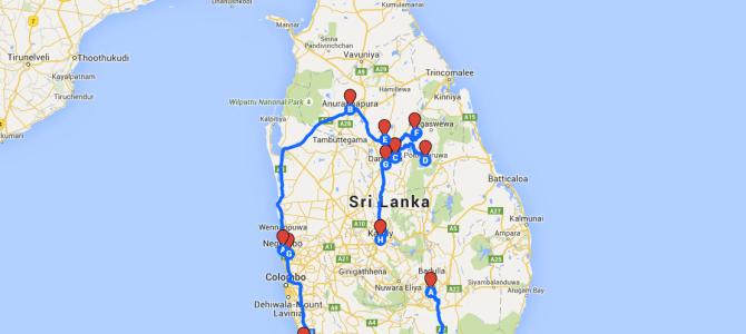 Nuestro itinerario de viaje a Sri Lanka de dos semanas