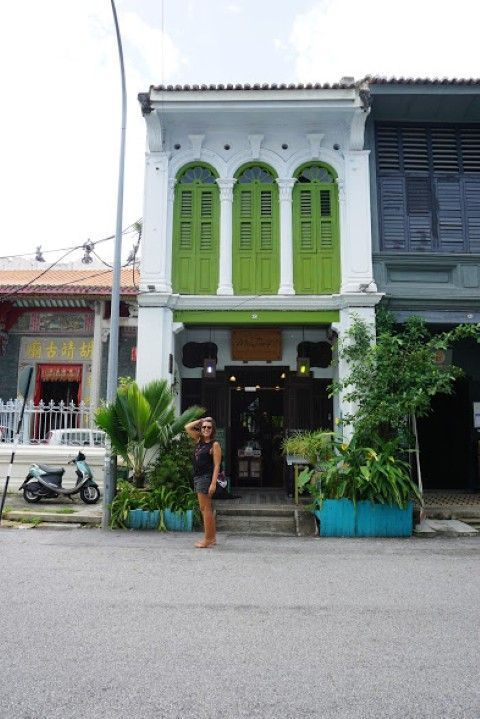 Descubriendo las calles de Penang, aquí en la mítica Love lane (Georgetown)