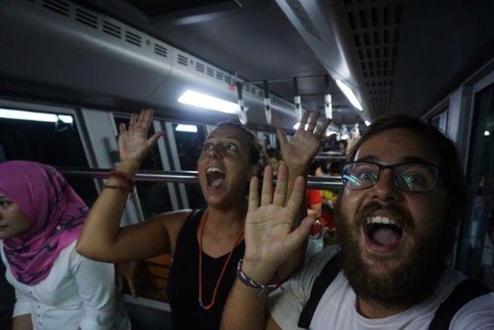 La divertida subida en funicular no nos preparaba para lo que íbamos a disfrutar...