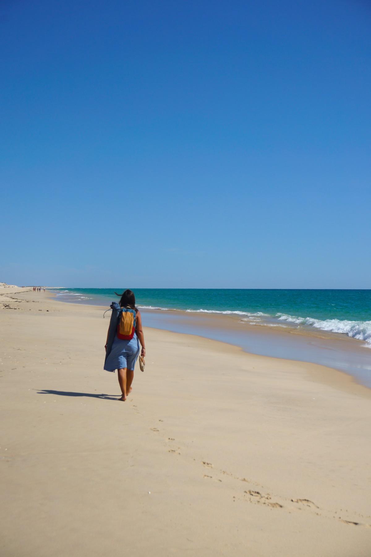 Algarve de España a Faro. Foto en la isla de Armona