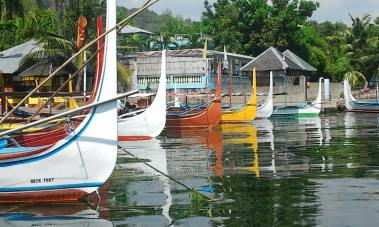 The colorful boats that'd play in your eyes. :)