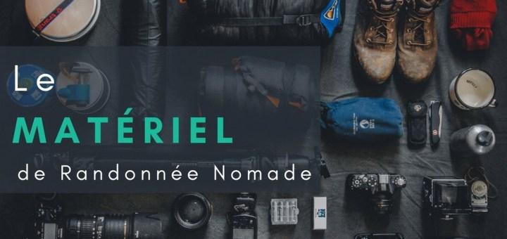 image titre materiel equipe randonnee nomade