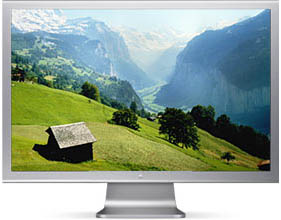 a very large flat panel
