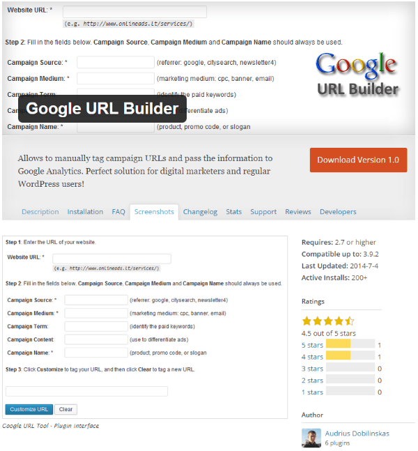 Google URL Builder plugin