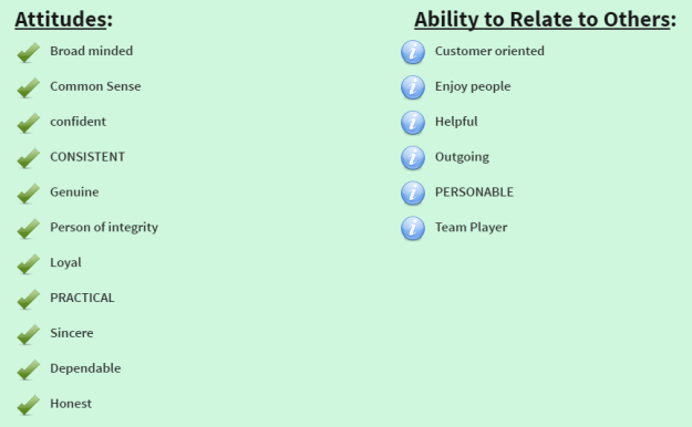 Attitudes & Ability to Relate to Others
