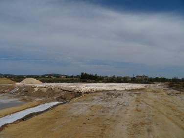For those of you who have been here, or those who recall the huge salt pile along the flats.....it has been leveled!! They are busy reworking the salt flats again and I expect by end of summer the pile will be growing. In my five winters here I have never seen it flattened before.