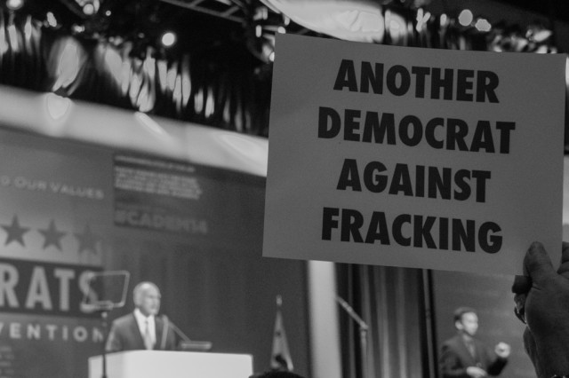 Another Democrat against fracking