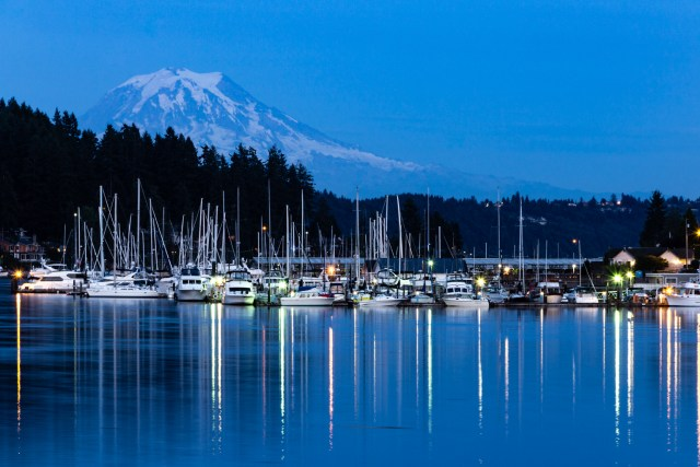 Gig Harbor, Washington with Mt. Rainier
