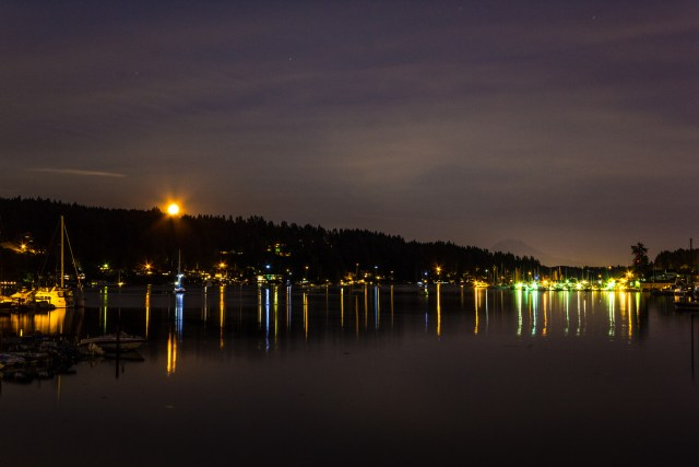 Moonrise. Gig Harbor, Washington
