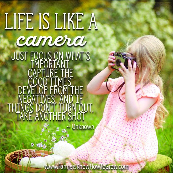 Life is Like a Camera . . . | Randy Frazier