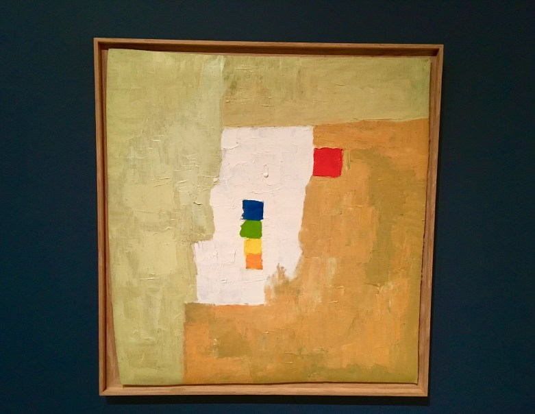 "ETEL ADNAN (American, born Lebanon, 1925) Untitled 1965/1966 Oil on canvas 21 1/4 x 22 5/8"" (54 × 57.5 cm) Gift of The Riklis Collection of McCrory Corporation and Mrs. Cornelius J. Sullivan Fund (both by exchange) 996.2015"
