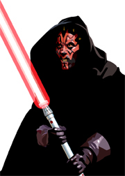 Darth Maul Foil-For Topps Star Wars Galaxy 5 My Star wars Art was featured in a 15 card FOIL subset. These were considered chase cards. Each card was printed on Bronze, Silver, Gold and Prismatic Foil.