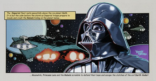 Official Star Wars Fine Art Print: Darth Vader: Invasion approx 22 X 12 Acrylic and Giclee on Canvas