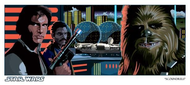 Official Star Wars Fine Art Print: Scoundrels