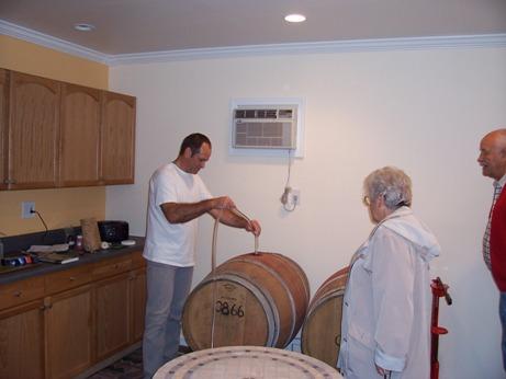 Randy - Etta & Wayne - tasing from barrel