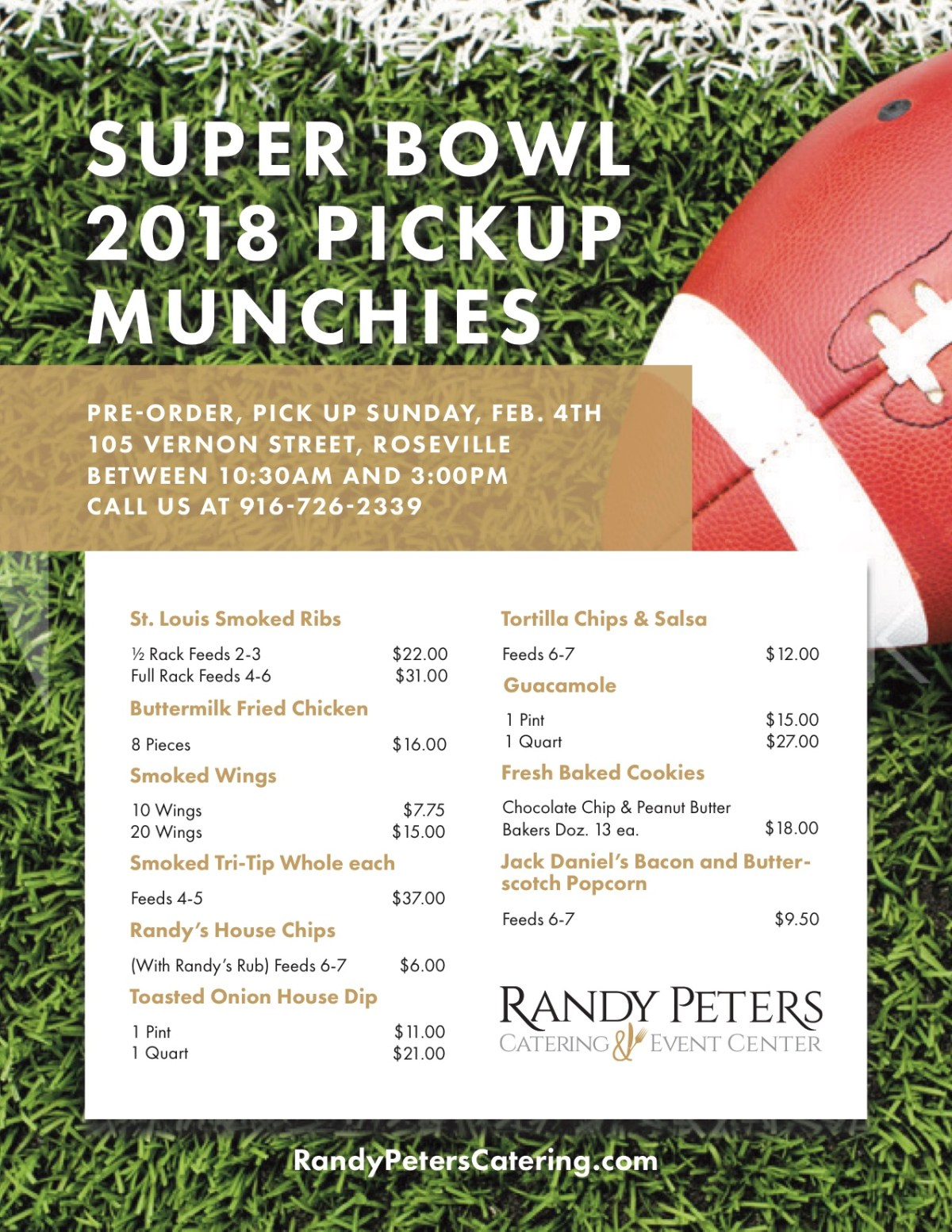 Super Bowl Catering Randy Peters