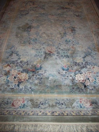 """Art Silk"" area rug."