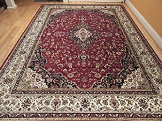 Silk area rug.