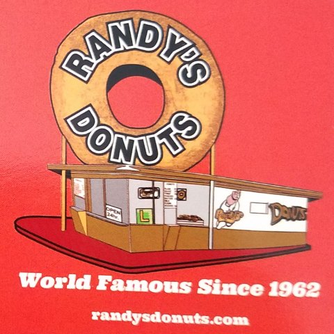 Red Red Randy's Donuts Magnet