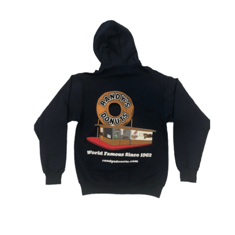 Randy's Donuts Dark Blue Zip-Up Hoodie