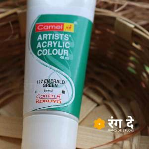 Buy Emerald Green Deep Green Artists Acrylic Colours Online from Rang De Studio