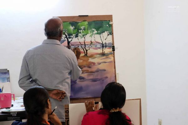 Watercolor Painting Workshop in Chennai - By Coloring India Foundation