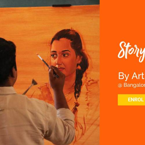 Oil painting workshop Bangalore by Coloring India Foundation