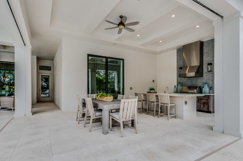 beautiful kitchen and dining room area