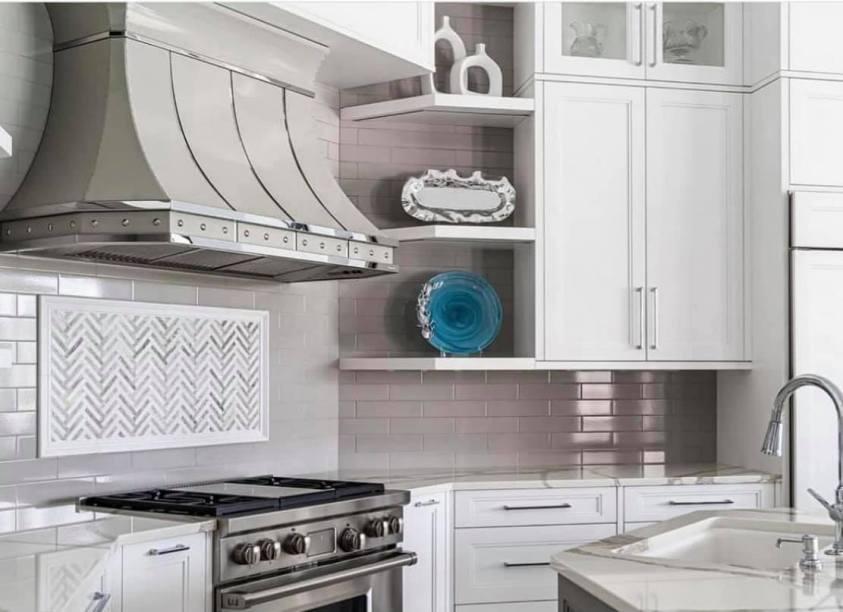 beautiful kitchen with new range hood