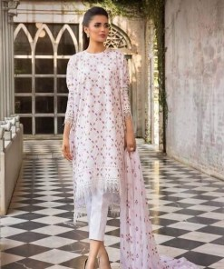 bareeze lawn embroidered dress