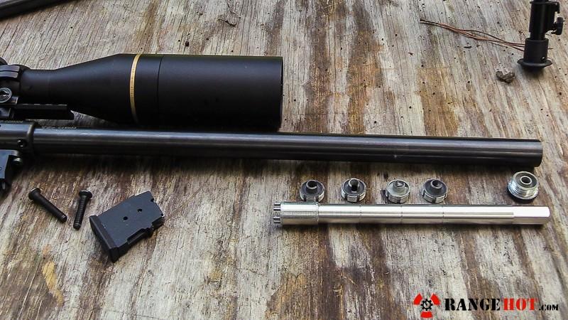 CZ Integrally suppressed barrel for the 455 Varmint Taticool rifle