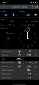 BDX Rangefinder Screen