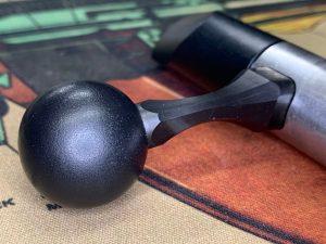 Bolt knob closeup